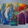 Модульная картина Безумие цвета