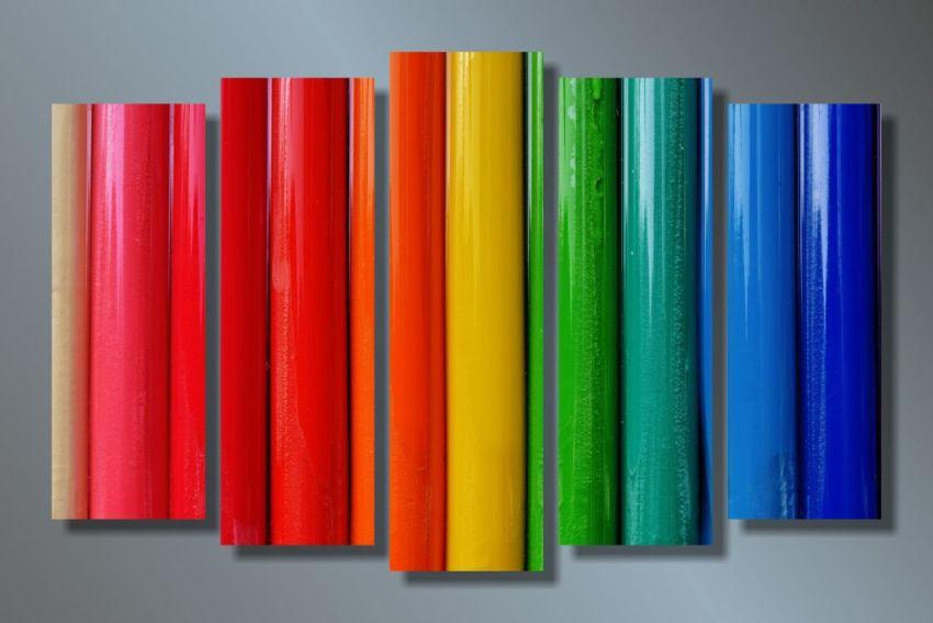 Модульная картина Яркие цвета