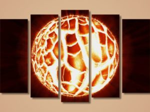 Модульная картина Огненный шар