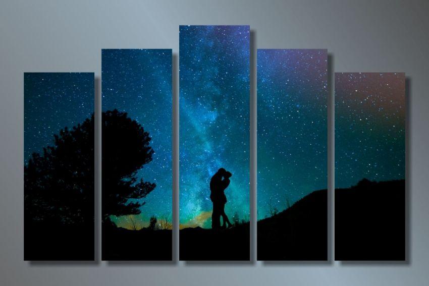 Модульная картина Ночь для двоих