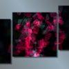 Модульная картина Рубиновый всплеск