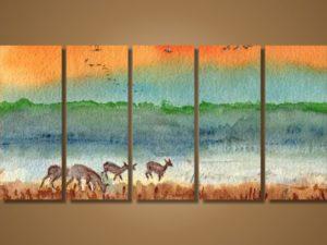 Модульная картина Акварельный пейзаж
