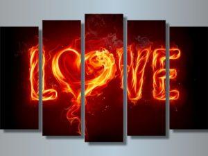 Модульная картина Горячая любовь