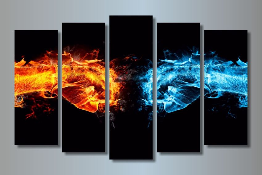 Модульная картина Лед и пламя
