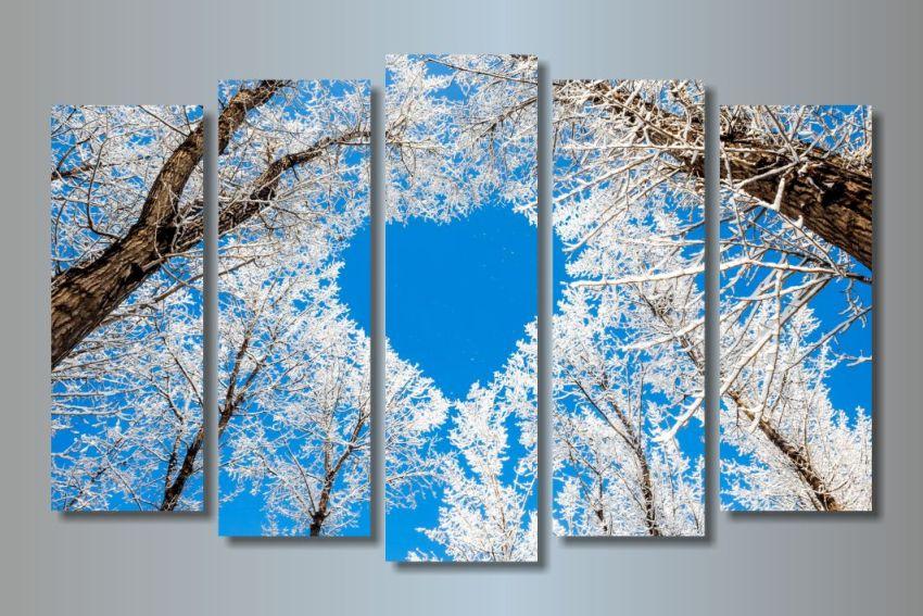 Модульная картина Ледяное сердце