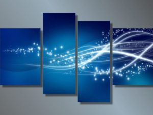 Модульная картина Синяя волна