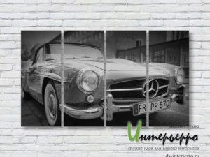 Модульная картина Mercedes