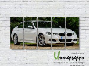Модульная картина Белый BMW