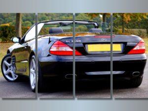 Модульная картина Кабриолет Mercedes