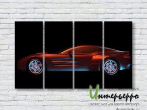Модульная картина Sports car