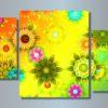 Модульная картина Необычные цветы