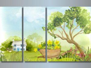 Модульная картина В саду