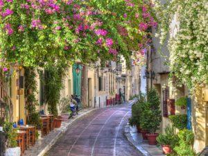 Фотообои Цветущая улица