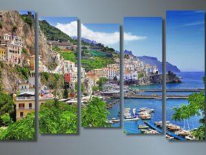 Модульная картина Берег в Италии