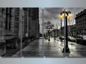 Модульная картина Городская улица