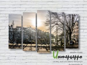 Модульная картина Амстердам