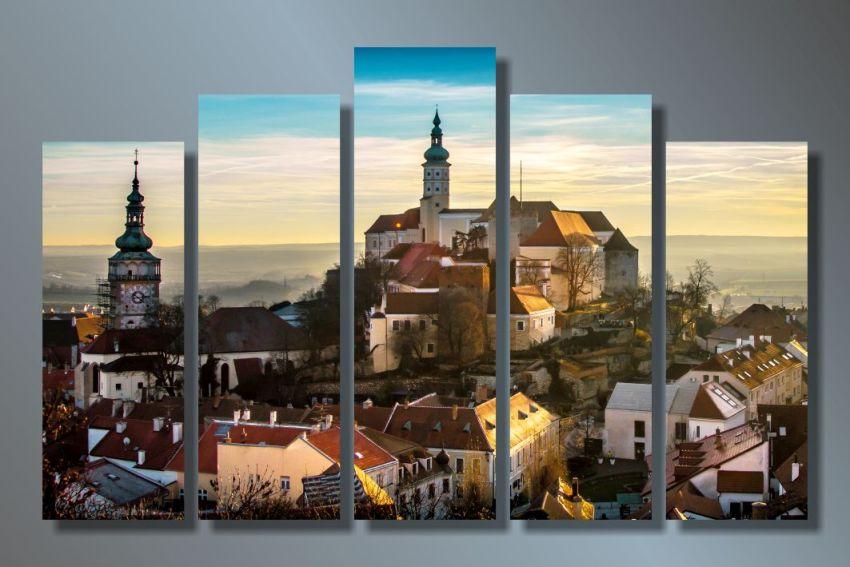 Модульная картина Городская архитектура