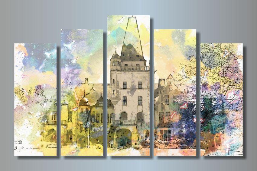"""Модульная картина Городской пейзаж - купить в интернет-магазине """"Интерьерро"""""""