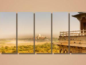 Модульная картина Вид на Тадж-Махал. Индия