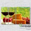 Модульная картина Сыр и вино