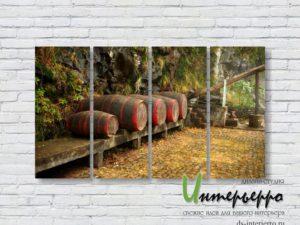 Модульная картина Бочки с вином