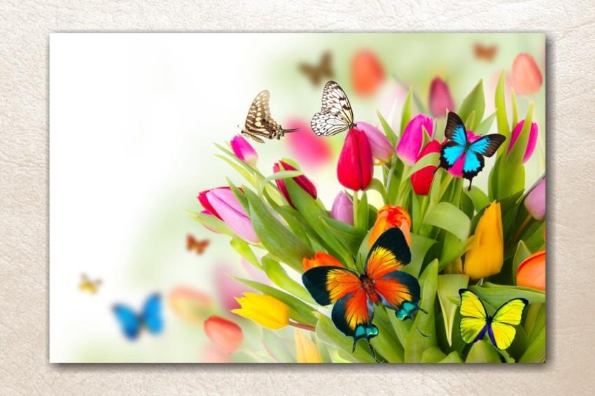 РР-054 Бабочки на тюльпанах