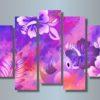 Модульная картина Нарисованные цветы