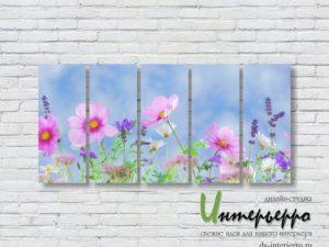 Модульная картина Летние цветы