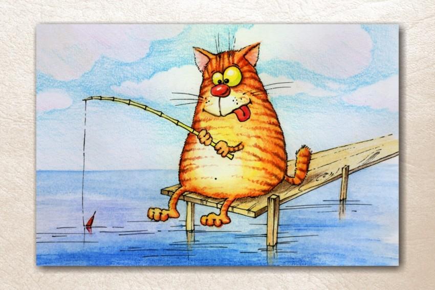 Годик, открытки прикольные коты