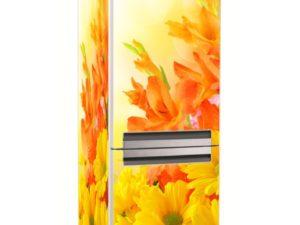 Наклейка на холодильник Солнечные цветы