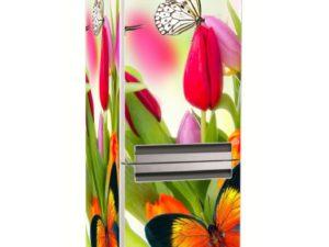 Наклейка на холодильник Яркие тюльпаны