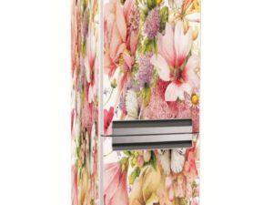 Наклейка на холодильник Цветы и бабочки