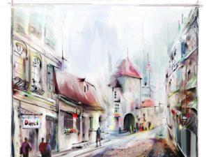Фотообои Городская улица