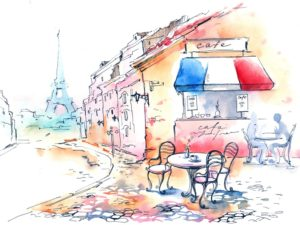 Фотообои Парижское кафе