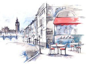Фотообои Лондонское кафе