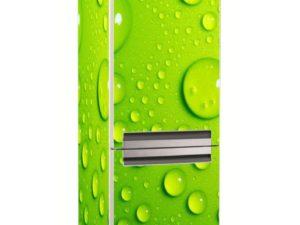 Наклейка на холодильник Зеленые капли