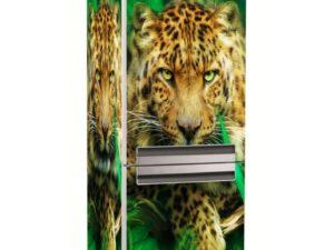 Наклейка на холодильник Леопард