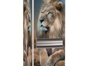 Наклейка на холодильник Король Лев