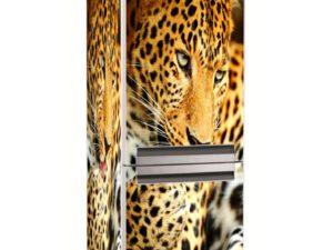 Наклейка на холодильник Гордый леопард