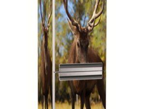 Наклейка на холодильник Олень