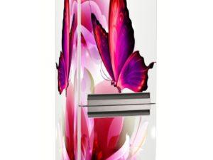 Наклейка на холодильник Бабочка на цветке
