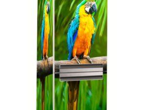 Наклейка на холодильник Попугай