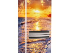 Наклейка на холодильник Закат на море