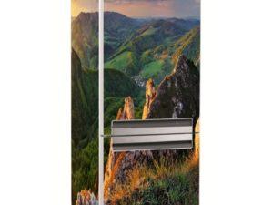 Наклейка на холодильник Горные вершины