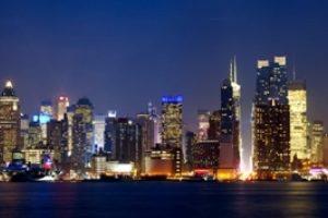 3D Фотообои Панорама ночного города