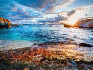 3D Фотообои Закат на море