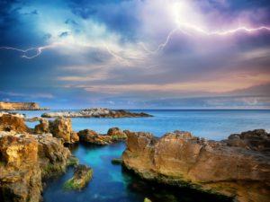 Фотообои Гроза на морском побережье