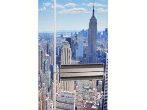 Наклейка на холодильник Нью-Йорк в летний день