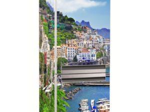 Наклейка на холодильник Побережье Италии