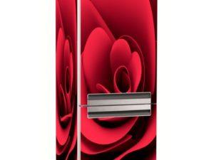 Наклейка на холодильник Красная роза